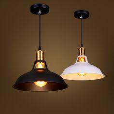 vintage lighting pendants. D28cm Metal Pendant Lights For Dinning Room Modern Hanging Lighting White Black Lampshade Luminarias Retro Lamp Vintage Pendants