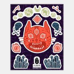 Occult Cat Stickers