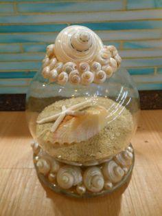 Strand Decor Seashell en zand Globe - kust sneeuwbol - Christmas - sneeuwbol