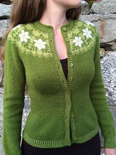 Green Printed Casual Knitted Long Sleeve plus size Outerwear Pullover Design, Sweater Design, Crochet Woman, Knit Crochet, Fair Isle Knitting, Hand Knitting, Norwegian Knitting, Icelandic Sweaters, Plus Size Outerwear