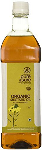 Pure & Sure Organic Mustard Oil, Mustard Oil, Organic Recipes, Hot Sauce Bottles, Pantry, Pure Products, Canning, Amazon, Food, Pantry Room