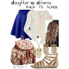 Daughter Of Athena Back To School Outfit, Cabin 6, Percy Jackson Inspired Outfit