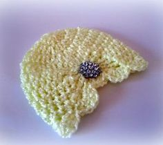 Flapper girl hat Newborn Hat Yellow Jewel by crochetedcuddles
