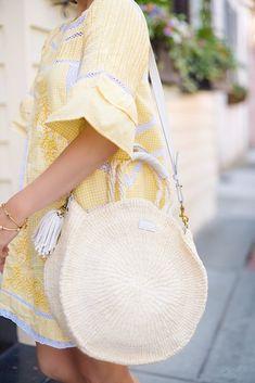 Free People Sunny Day Dress + Clare V Alice Bag in Charleston - Something Delightful Blog