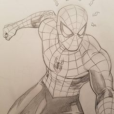 Pin by keiko rain on ✨ marvel ✨ in 2019 карандашные рисунки, Spiderman Sketches, Superhero Sketches, Spiderman Drawing, Avengers Drawings, Drawing Superheroes, Avengers Art, Spiderman Art, Marvel Art, Ms Marvel