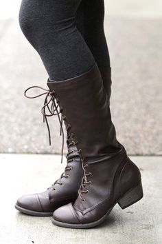 Lace Me All The Way Up Brown Boots