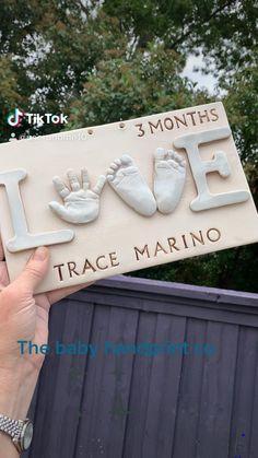 Custom Baby Gifts, Handmade Baby Gifts, Hand Prints, Kids Prints, Gifts For New Moms, Gifts For Kids, Beautiful Pregnancy, Footprint Art, Baby Books