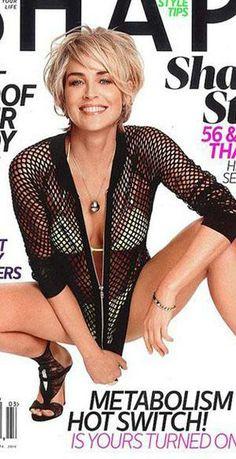 sharon stone on shape magazine | Sharon Stone on the cover of Shape Magazine.