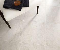 Roches White Floor | Topps Tiles Hall Flooring, Topps Tiles, Family Bathroom, Tile Floor, Interior Design, Kitchen Ideas, Home Decor, Nest Design, Bathroom