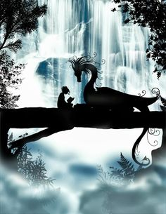 When I first saw Tops, she sat on a tree branch in front of a waterfall reading and smiling, Her Mirror bird perched next to her, Daring the universe to stop her