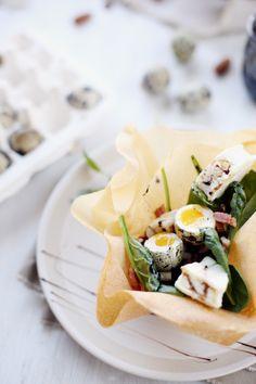 Salade croustillante au rocamadour