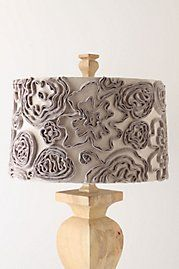 textured lamp shade--paper or fabric