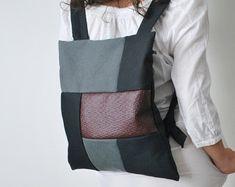 Klassische Cabrio Rucksack Messenger Tasche von misirlouHandmade