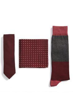 The Tie Bar Basic Burgundy Gift Set