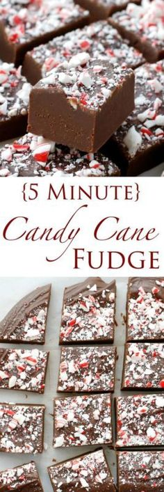 Creamy chocolate peppermint fudge is topped with crushed candy canes for the ultimate Christmas treat! {5 MINUTE} Fudge Recipes are my saving grace this time of year. I always want to be that hostess or...