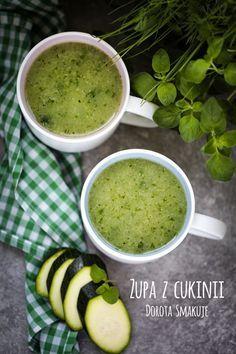 Zupa z cukinii - dieta dr Dąbrowskiej Clean Recipes, Raw Food Recipes, Diet Recipes, Cooking Recipes, Healthy Recipes, Healthy Soup, Healthy Eating, Low Calorie Recipes, Food Allergies