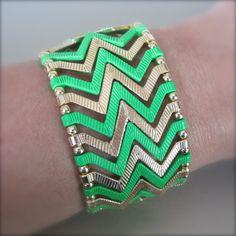 Neon Chevron Bracelet