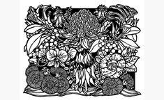 botanical linocut - Google Search