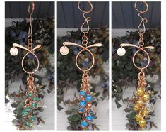 Wind Chimes Garden Decor Glass Copper Garden Art S Personalised Gifts Home, Metal Garden Art, Unique Gardens, Garden Gifts, Brighten Your Day, Suncatchers, Sculpture Art, Garden Sculpture, Wind Chimes