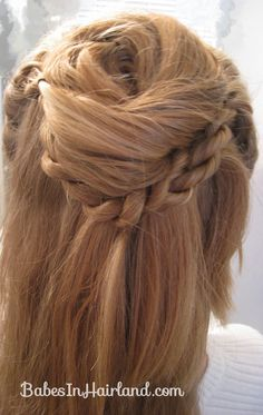 Twisted Flower Girl Hairstyle (9)