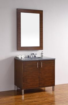 Metropolitan American Walnut Single Vanity w/ 4 CM Galala Beige Marble Top - James Martin Modern style is featured in Metropolitan Series. Very clean lines and ample storage make these vanities a welcome addition to you Single Sink Bathroom Vanity, Bathroom Vanity Cabinets, Wood Vanity, Vanity Set, Modern Bathroom, Bathroom Vanities, Vanity Countertop, 60 Inch Vanity, Bathrooms
