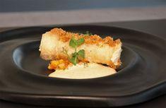 Canelón de pollo en texturas con tartar de verduras de María Marte