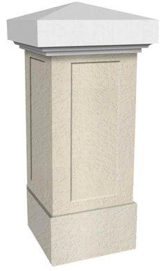 klassischer tor und zaunpfeiler aus weissbeton dieser pfeiler wurde aus verschieden artikeln. Black Bedroom Furniture Sets. Home Design Ideas