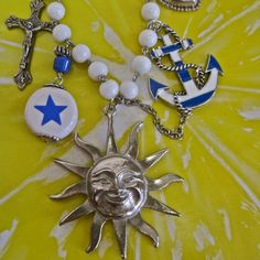 Good Morning Sunshine: Nautical Charm Necklace by MorticiaSnow