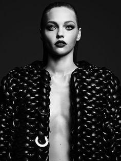 Sasha Pivovarova by Hedi Slimane///Vogue Japan August 2011