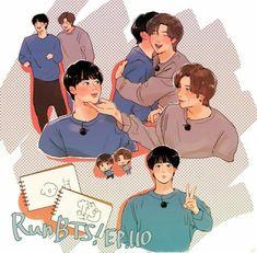 Namjin, Jikook, Jungkook Selca, K Pop, Kpop Drawings, Cute Gay Couples, Bts Aesthetic Pictures, Bts Chibi, Bts Fans
