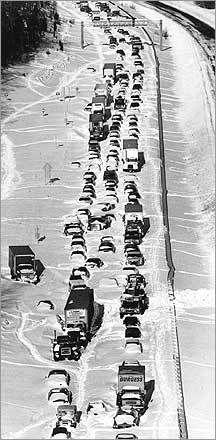 Blizzard of 1978 - just outside Boston