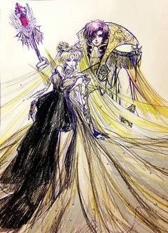 Princess Serenity (Usagi) and Prince Endymion (Mamoru) by 夜枭 - Sailor Moon fanart Sailor Moon Fan Art, Sailor Moon Character, Sailor Moon Crystal, Neo Queen Serenity, Princess Serenity, Otaku, Moon Princess, Kino Film, Tuxedo Mask