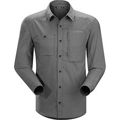 Arcteryx A2B LS Shirt - Men's Graphite Large ** MORE INFO @: http://www.best-outdoorgear.com/arcteryx-a2b-ls-shirt-mens-graphite-large/