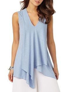 Phase Eight Maisie Linen Kaftan Top Blue - House of Fraser
