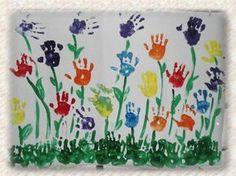 handprint flower bulletin board idea for spring Baby Crafts, Toddler Crafts, Preschool Crafts, Crafts For Kids, Flower Bulletin Boards, Spring Bulletin Boards, Preschool Education, Preschool Teachers, Footprint Art