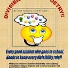 Divisibility rules, or divisibility tests, have a wide range of applications in mathematics (finding factors, determining if a number is prime or composite, simplifying fractions, probability, etc.), but are often underemphasized in the classroom or not explored in enough detail for students to retain and use them as they progress through higher math classes.