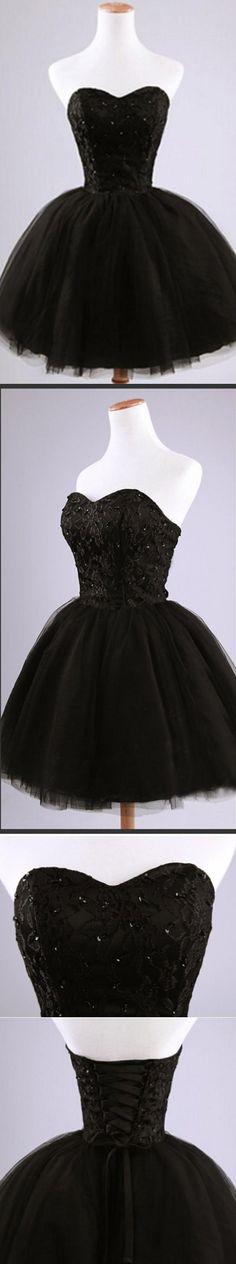 black homecoming dresses, short homecoming dress, cute homecoming dresses…