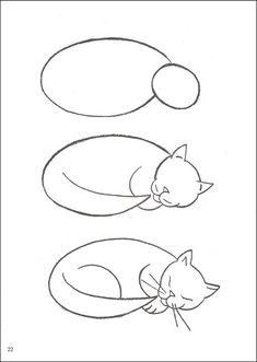 Chat 💙 Dessin animaux chat- Dessins de chats – Illustrations et affiches chat… Cat 💙 Drawing animals cat- Drawings of cats – Illustrations and posters cat … – Zeichnen – Drawing Lessons, Drawing Techniques, Drawing Tutorials, Art Tutorials, Art Lessons, Drawing Tips, Easy Cat Drawing, Learn Drawing, Life Drawing