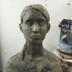#bust #statue #study #friend #clay #modelingclay #body #head #human #schoolofart