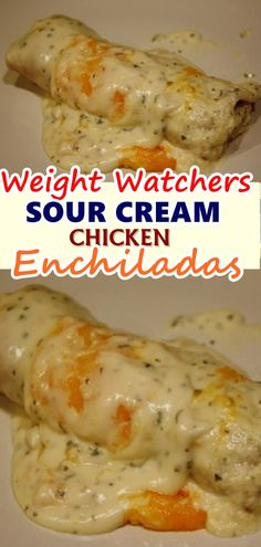 CREAM CHICKEN ENCHILADAS RECIPE This recipe is so simple, but these sour cream chicken enchiladas have so much flavor you'd think they took hours. The enchiladas are made with sour cream .This recipe is so simple, but these sour cream chicken enchila. Skinny Recipes, Ww Recipes, Mexican Food Recipes, Cooking Recipes, Healthy Recipes, Recipes Dinner, Recipies, Dessert Recipes, Snacks Recipes