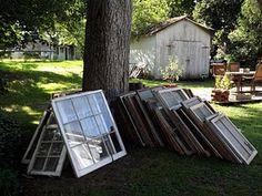 21 ways to reuse old windows.