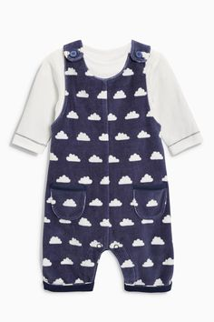 Kaufen Sie Blue Cloud Dungarees And Bodysuit Set (0 Monate bis 2 Jahre) from Next Germany