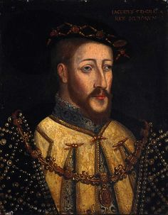 Anonymous portrait of James V of Scotland, probably contemporary. James V was Henry VIII's nephew.