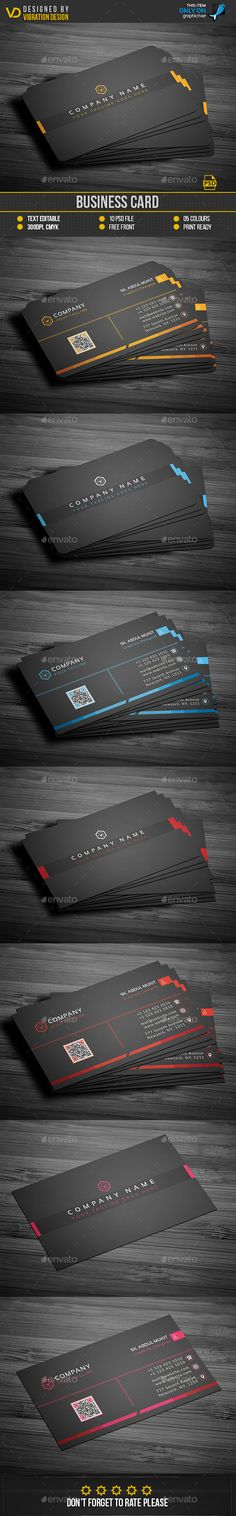 #Business #Card - Business Cards Print #Templates Download here: https://graphicriver.net/item/business-card/19229825?ref=alena994