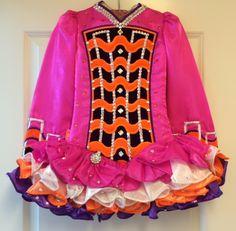 Pretty Pink Gavin Doherty Irish Dance Dress Solo Costume For Sale