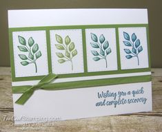 Forever Fern quick recovery - garza 1 Sympathy Cards, Greeting Cards, Stampin Up Karten, Leaf Cards, Stamping Up Cards, Quick Cards, Get Well Cards, Flower Cards, Scrapbook Cards