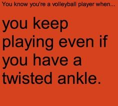 And then you end up with months of physical therapy