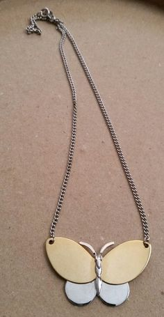 Vintage Avon Silver & Gold Tone Metal Butterfly Necklace   Jewelry & Watches, Vintage & Antique Jewelry, Costume   eBay!