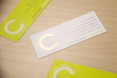 European style Spot UV is incredibly unique in the business card world. StudioC Salon took advantage of this, using a minimilist design to get the most out of their business cards.