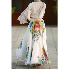 Modest long maxi skirt full length stylish trendy fashion | Mode-sty